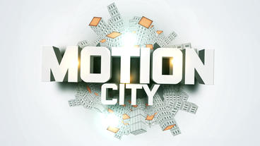 3D Modern City Ride Broadcast Media & Entertainment After Effectsテンプレート