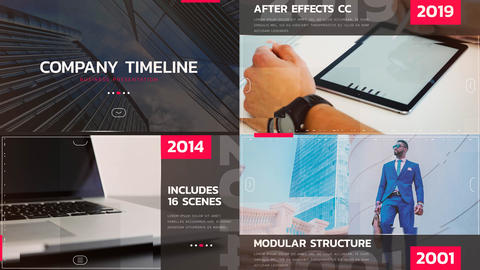 Minimal Timeline After Effects Template