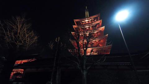 Hyper lapse in Japan temple Footage