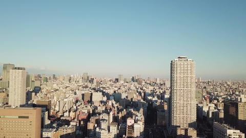 Aerial Sunrise in Tokyo city Footage