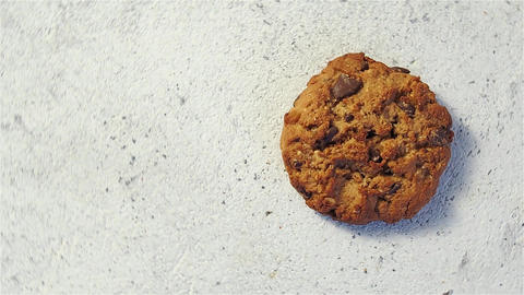Top view of cookie rotate, copy space Footage