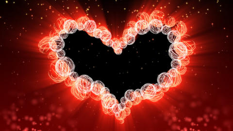 Wedding and Valentine Heart Background - Heart 38 (HD) Stock Video Footage