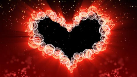Wedding And Valentine Heart Background - Heart 38 (HD) stock footage