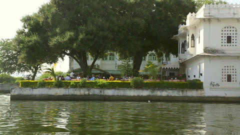 Lake in Udaipur Stock Video Footage