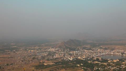 Pushkar landscape Stock Video Footage