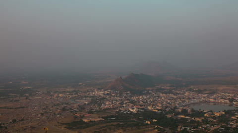 Pushkar landscape Stock Video Footage
