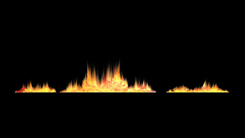 Fire and Flash on Black Stock Video Footage
