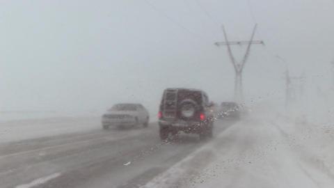 snow storm Footage