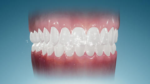 Sparkling Teeth Stock Video Footage
