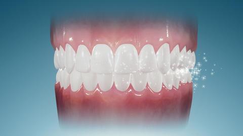 Sparkling Teeth Stock Video Footage