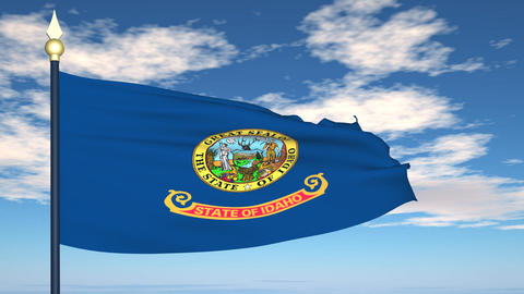 Flag of the state of Idaho USA Stock Video Footage