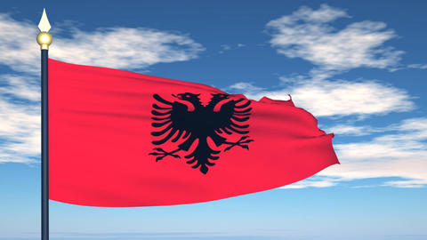 Flag Of Albania Animation