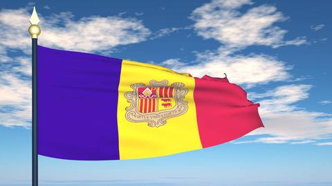 Flag Of Andorra Animation