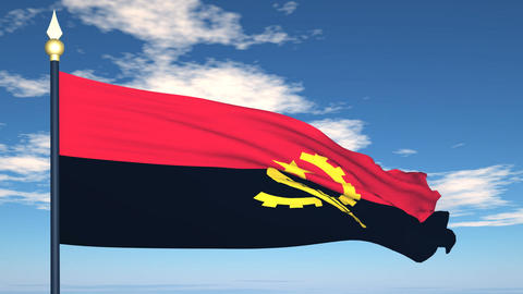 Flag Of Angola Stock Video Footage
