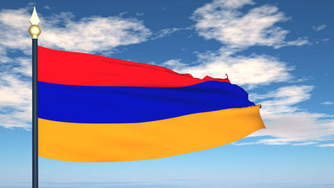 Flag Of Armenia Animation