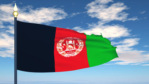 Flag Of Afghanistan Stock Video Footage