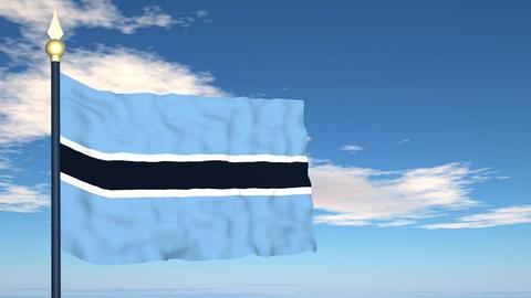 Flag Of Botswana Stock Video Footage