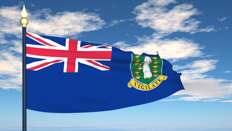 Flag Of British Virgin Islands Animation