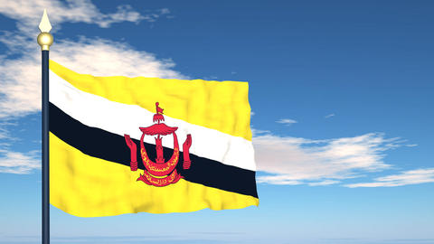 Flag Of Brunei Stock Video Footage