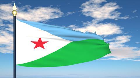 Flag Of Djibouti Animation