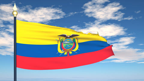 Flag Of Ecuador Stock Video Footage
