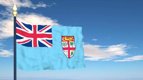 Flag Of Fiji Stock Video Footage