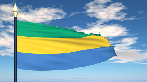 Flag Of Gabon Animation