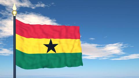 Flag Of Ghana Stock Video Footage