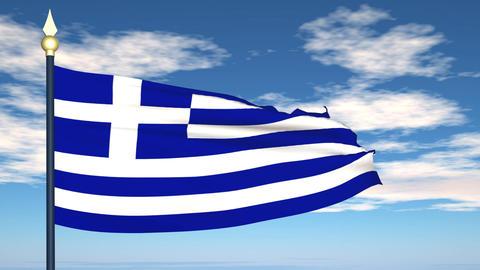 Flag Of Greece Animation