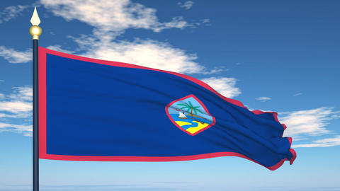 Flag Of Guam Stock Video Footage