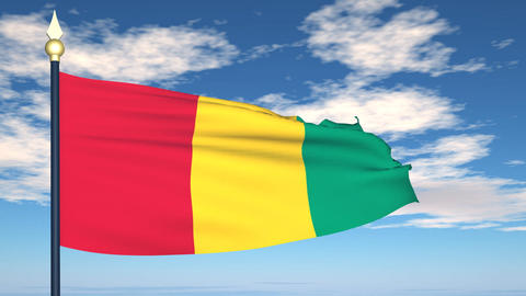 Flag Of Guinea Animation