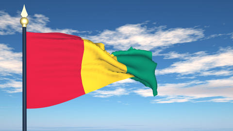 Flag Of Guinea Stock Video Footage
