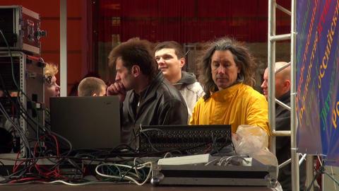 Sound Engineers Stock Video Footage