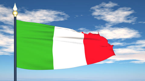 Flag Of Italy Animation