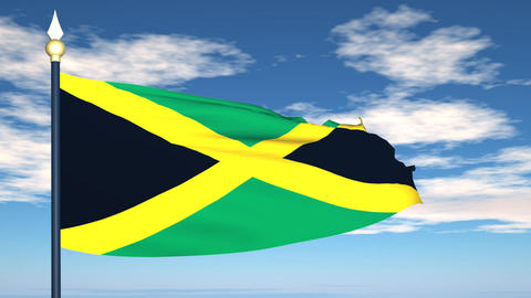 Flag Of Jamaica Animation