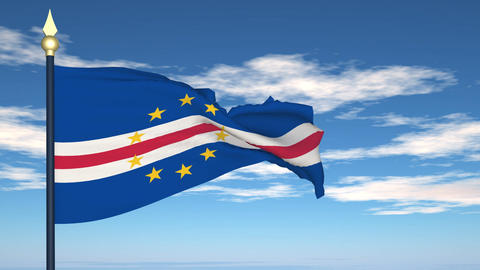 Flag Of Cabo Verde Stock Video Footage