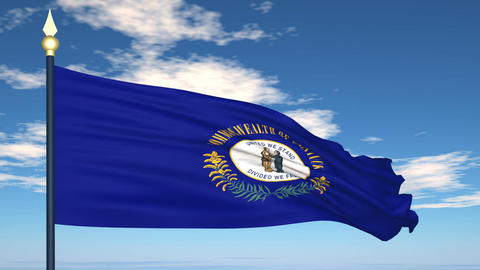 Flag of the state of Kentucky USA Stock Video Footage