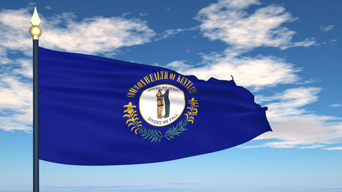 Flag of the state of Kentucky USA Animation