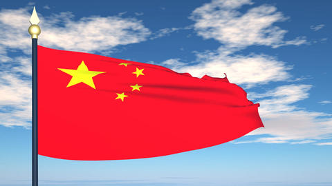 Flag Of China Stock Video Footage
