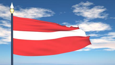 Flag Of Latvia Stock Video Footage