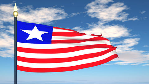Flag Of Liberia Stock Video Footage