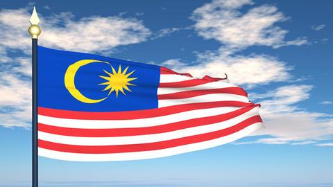 Flag Of Malaysia Animation