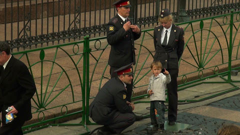 The child and the police Stock Video Footage