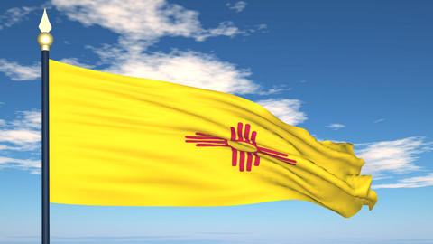 Flag of the state of New Mexico USA Stock Video Footage