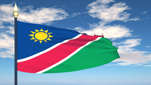 Flag Of Namibia Animation
