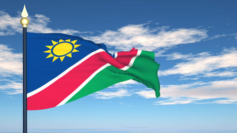 Flag Of Namibia Stock Video Footage