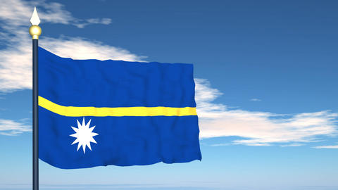 Flag Of Nauru Stock Video Footage