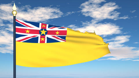 Flag Of Niue Animation