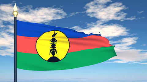 Flag Of New Caledonia Animation