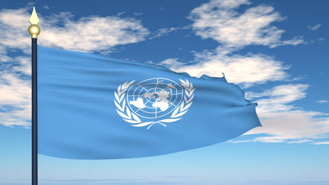 Flag Of United Nations Animation